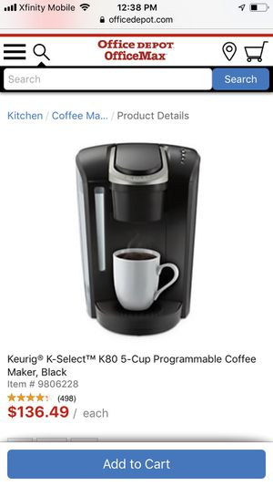 Keurig K-Select Coffee Maker K80 for Sale in Reading, PA