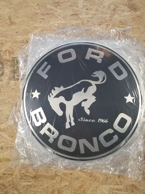 Huge ford bronco logo embossed metal sign for Sale in Vancouver, WA