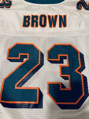 Miami Dolphins Ronnie Brown NFL Jersey #23, Reebok Youth XL for Sale in Newton, MA