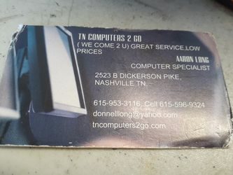 COMPUTERS 2 GO for Sale in Nashville,  TN