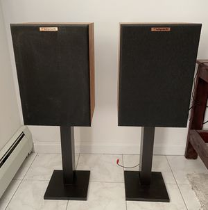 Klipch KG2 speakers. Pair with stands. for Sale in Millbury, MA