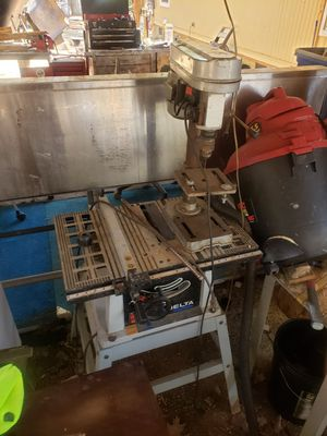 Table saw, drill press and shop vac...$180 obo for Sale in Salisbury, NC