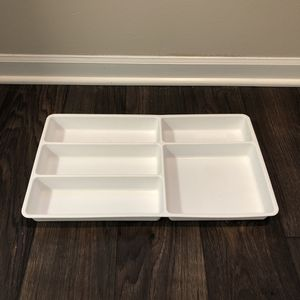 Ikea STÖDJA Large White Plastic Cutlery Silverware Flatware Kitchen Drawer Home Organizer Tray for Sale in Geneva, IL