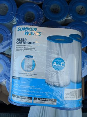 Summer Waves® Pool Filter Cartridge 2 Pack (Type A/C) for Sale in Weymouth, MA