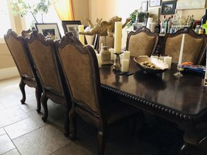 Formal dining room table 10 chairs for Sale in Fresno, CA