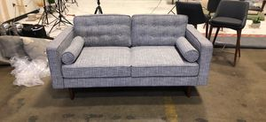 Mid Century Modern Furniture Grey Love Seat Sofas Couches On Sale for Sale in Houston, TX