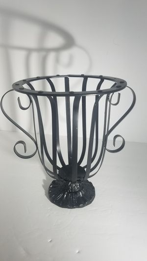 Vintage Gothic Medieval Wrought Iron side Handles Candle / plant Holder for Sale in Knightdale, NC