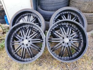 RIMS SIZE 24 ...5 LUGS FIT DODGE CHARGER DODGE MAGNUM CHRYSLER 300 FORD RANGER FORD EXPLORER GRAN MARKIS GRAN VICTORIA NISSAN MURANO 5X4.5 for Sale in Phoenix, AZ