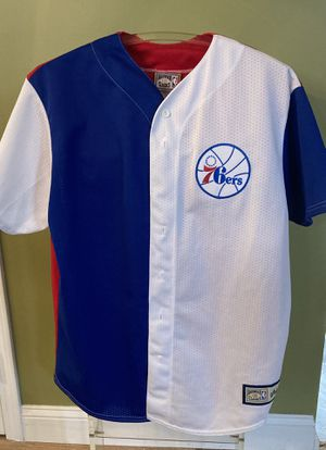 Philadelphia 76ers Mesh Baseball Jersey for Sale in Cherry Hill, NJ