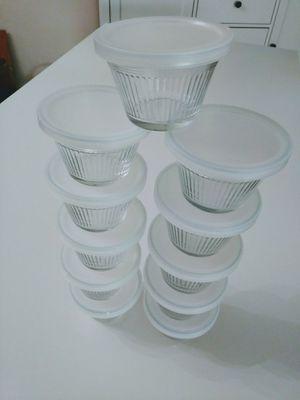 Set of 11 Glass Custard, Cupcake or Muffin Baking Cups for Sale in Arlington, VA