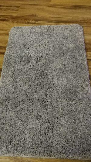 Soft gray anti-slip bathroom rug for Sale in Alexandria, VA
