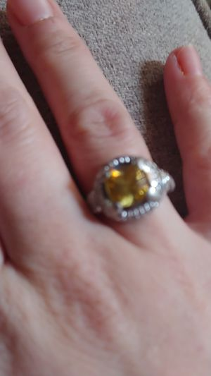 Woman's yellow diamond engagement ring for Sale in Hickory, NC