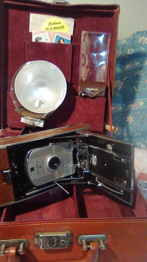 Polaroid, land camera and case, sirca 1950s for Sale in Portland, OR