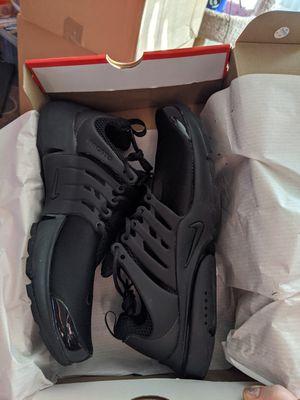Men's Nike Air Presto Black shoes size L 11-12 for Sale in Everett, WA