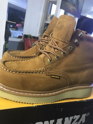 """Work boots//. Bonanza Boots 630 Mocc Toe Goodyear Welt Construction 6"""" Medium SIZE (9.5)(8.5)(7.5)ONLY for Sale in Morton Grove, IL"""