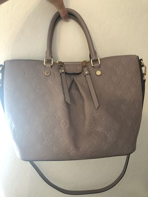 Gray all leather Louis Vuitton hand bag. for Sale in Scottsdale, AZ