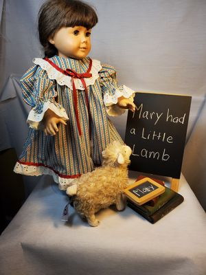 Quality hand-sewn calico dress ensemble/Mary had a Little Lamb:Made for 18 inch doll or American Girl Doll (doll not included). for Sale in Lacey, WA