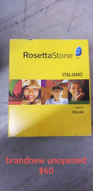 Rosetta Stone Italian version level 1 unopened for Sale in Cumming, GA