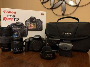 Canon EOS Rebel T5 DSLR (Premium Kit) for Sale in Glendale, AZ