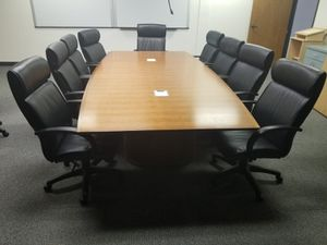 Conference Table, Steelcase, Real Wood, Office furniture for Sale in Chula Vista, CA