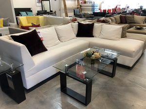 White 2PC Sectional Sofa 🌟 for Sale in Miami Springs, FL
