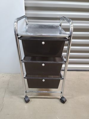 Portable three shelf cart for Sale in Bloomingdale, IL