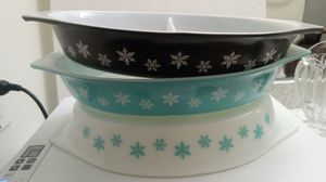 PYREX Snowflake divided Baking dishes for Sale in San Dimas, CA