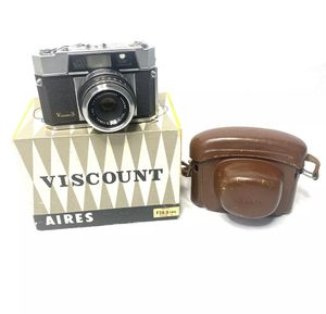 Aires Viscount film camera, Japan 1959, w/45/1.9, IBs case box for Sale in San Marcos, CA