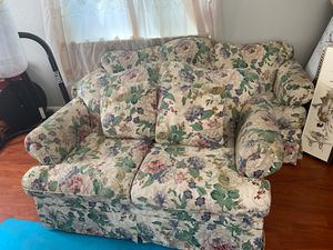 Free Couch and Convertible Sofa BED. Must be picked up today before hauled on Friday for Sale in Sacramento, CA