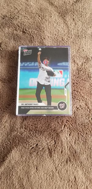 MLB Opening Day 2020 Dr. Fauci Topps Now First Pitch Baseball Card Nationals Yankees for Sale in Wesley Chapel, FL