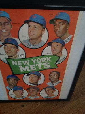 New York Mets Team Poster 1969 no. 24 $250.00 obo for Sale in Fortuna, CA