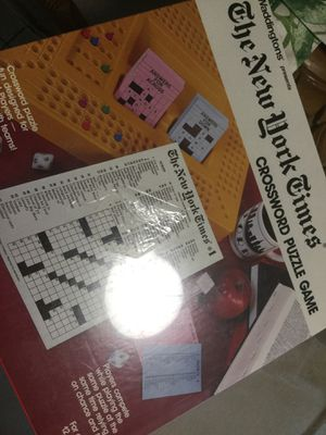 New York Times vintage crossword puzzle game. Brand new sealed for Sale in Port Richey, FL