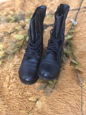 Steve Madden Leather Combat Boots for Sale in Freehold, NJ
