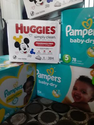 Pampers and huggies wipes...$80 for Sale in Randolph, MA