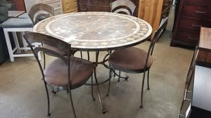 Granite Top Round Patio table 4 chairs 🎃 We are located at 2811 E. Bell Rd. We are Another Time Around Furniture for Sale in Phoenix, AZ