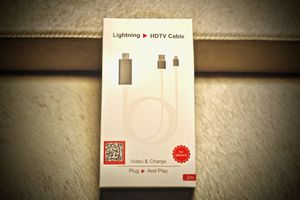 (WHITE) APPLE Lightning Male to HDMI/HDTV Female Adapter for Sale in Mission Viejo, CA