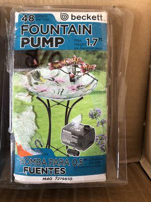 New Beckett fountain pump's 48 gallons per hour for Sale in Chesapeake, VA