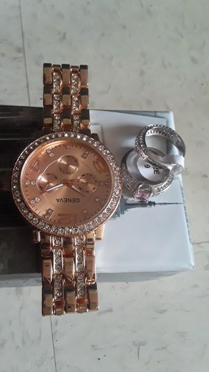 Geneva watch and ring/wedding band for Sale in Lake Alfred, FL