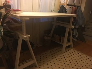 White desk or drafting table, adjustable height for Sale in Oakland, CA