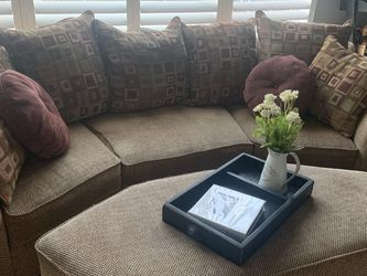 Couch with Matching Storage Ottoman for Sale in Ashburn,  VA