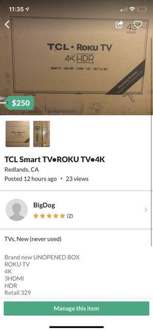TCL SMART TV ROKU for Sale in Redlands, CA