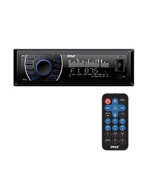 Pyle Bluetooth Marine Receiver Stereo - 12v Single DIN Style Boat in Dash Radio Receiver System with Digital LCD, RCA, MP3, USB, SD, AM FM Radio - Re for Sale in Bell, CA
