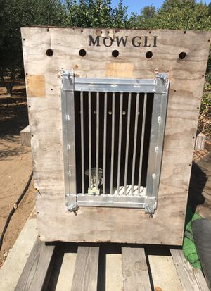 XXL HOME OR TRAVEL PLYWOOD DOG CRATE for Sale in Brentwood, CA