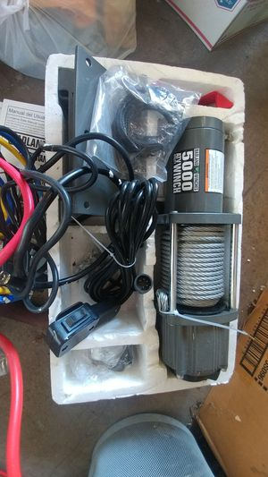 5000 lbs winch new with remote for Sale in Garden Grove, CA