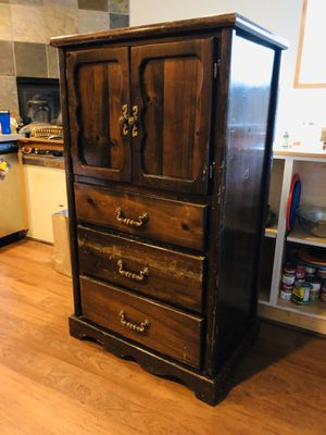 Wooden armoire for Sale in Seattle, WA