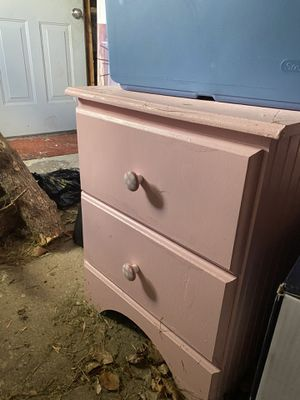 Pink dresser and nightstand for Sale in Roseville, MI