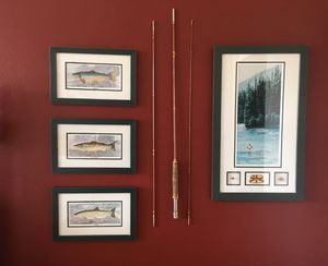Framed fish and fishing prints. Entire vignette $100 for Sale in Leavenworth, WA