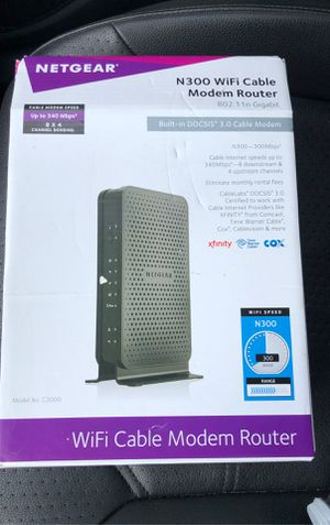 NETGEAR - WiFi cable Modem router for Sale in Fort Lauderdale, FL