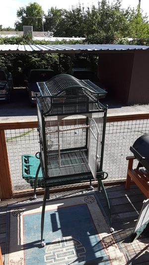 Bird cage on stand with the cage and stand 100 obo for Sale in Layton, UT