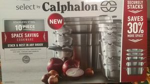 CALPHALON 10 PIECE STAINLESS STEEL SET for Sale in Menifee, CA